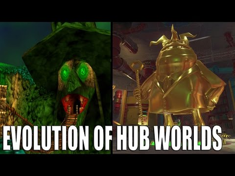 Evolution Of Hub Worlds In Yooka Laylee & Banjo Kazooie Games
