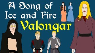 "A brief history of the Valonqar prophecy spoken by Maggy the Frog about Cersei Lannister. Based on the series A Song of Ice and Fire by George R R Martin.Great article for Valonqar theorieshttp://watchersonthewall.com/theories-valonqar/Support Civilization Ex with a Monthly Pledge of your choice at:https://www.patreon.com/civilizationexFollow us https://twitter.com/civilizationexVisit our Site: http://www.civilizationex.com/Music By RFGBc: https://www.youtube.com/channel/UCQKGLOK2FqmVgVwYferltKQMusic by Ross Bugden (RFGB): ""Ice and Fire""https://www.youtube.com/channel/UCQKG...If you would like to show your support, please Donate! :)https://www.paypal.com/cgi-bin/webscr..."
