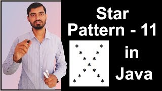 Star Pattern - 11 Program (Logic) in Java by Deepak