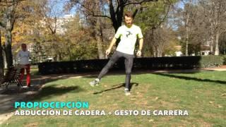 Abdución de cadera + gesto de carrera
