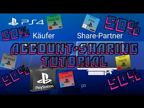 PS4 | Account Sharing 2018 | Jedes Spiel 50% Billiger | Easy Tutorial