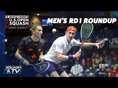 Squash: U.S. Open 2019 - Men's Rd 1 Roundup