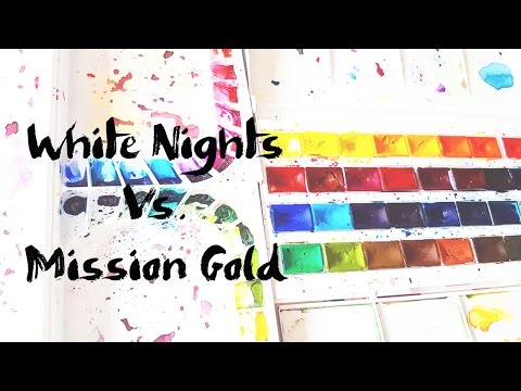 White Nights Vs. Mission Gold 36 Watercolors Sets Comparison
