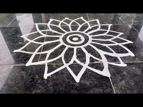 Video 5 | Wet Rice Flour Rangoli | Simple Arisi Maavu Kolam download in MP3, 3GP, MP4, WEBM, AVI, FLV January 2017