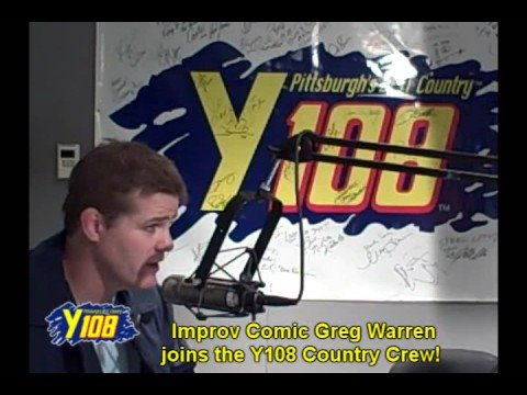 Improv Comic Greg Warren visits the Y108 Country Crew!
