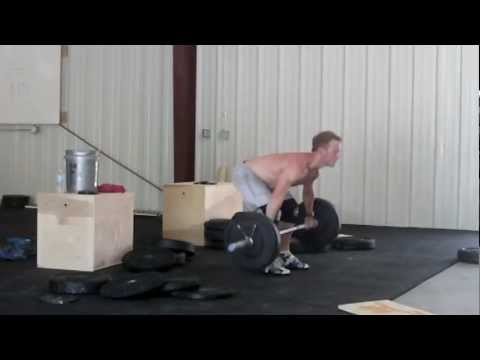 7/3 training part B. 4x 135#Squat Snatch EMOM for 8 mins