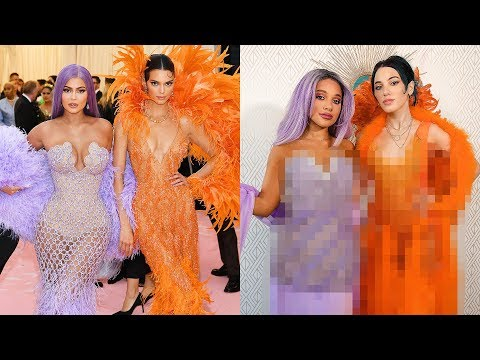 Recreating Kendall and Kylie's Met Gala Looks DIY Challenge