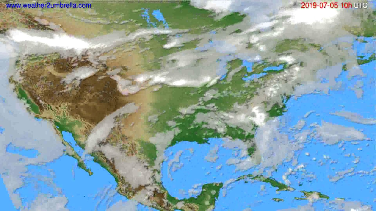 Cloud forecast USA & Canada // modelrun: 12h UTC 2019-07-02