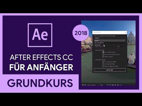 Adobe After Effects CC 2018 Grundkurs für Anfänger (Tutorial)