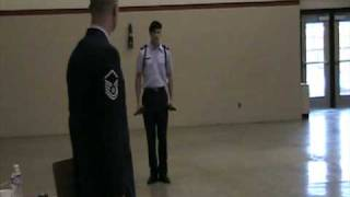 JROTC Drill Meet Winner Armed Solo Exhibition Cadet Captain Michael MacNaughton