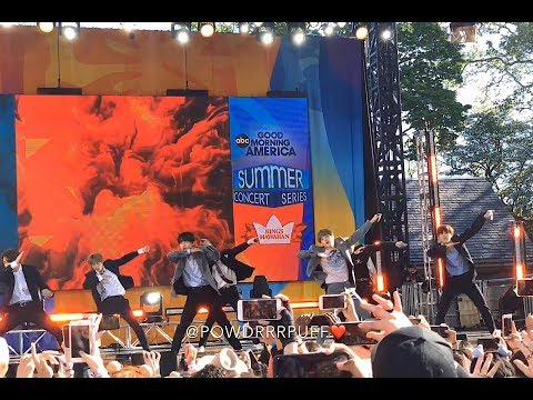 190515 - Fire - BTS 방탄소년단 - GMA Summer Concert Series - HD FANCAM