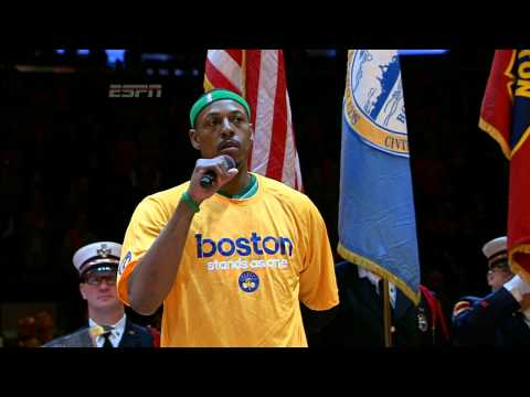 Carmelo Anthony and Paul Pierce Stand Together for Boston