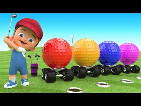 Golf Balls 3D for Kids Children Toddlers Games | Little Baby Fun Play Golf Game Learning Colors
