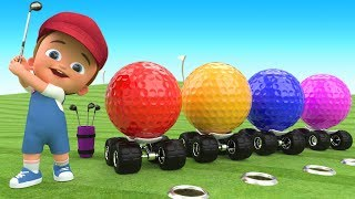 Download Video Little Baby Fun Play Golf Game Learning Colors with Golf Balls 3D for Kids Children Toddlers Games MP3 3GP MP4