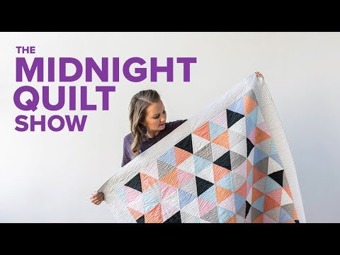 A MODERN Triangle Quilt | S6E3 Midnight Quilt Show with Angela Walters
