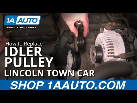 How To Install Repair Replace Engine Belt Idler Pulley Lincoln Town Car 4.6L 1998-02 1AAuto.com