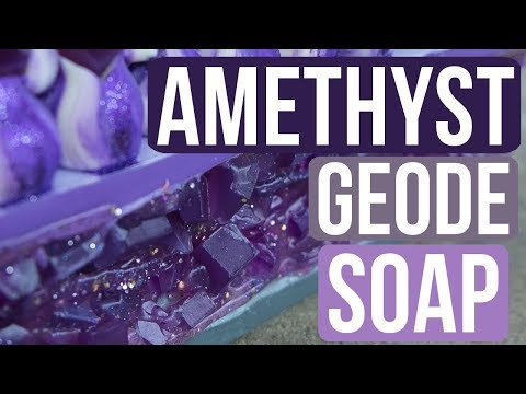 Amethyst Geode Soap | Royalty Soaps