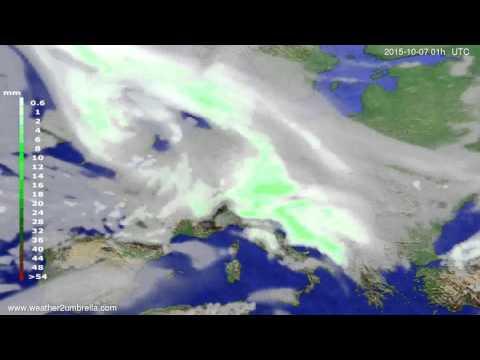 Precipitation forecast Europe 2015-10-04