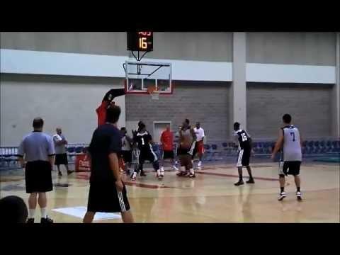 Terrence Jones block, leads break, finds Jeremy Lamb -- Rockets 2012 Training Camp