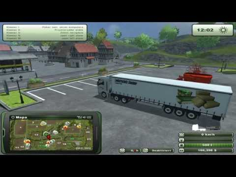 Zagrajmy w Farming Simulator 2013 na multiplayer #28 - Transport palet z wełną.