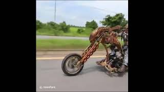 Quái thú Predator cưỡi mô tô náo loạn đường phố