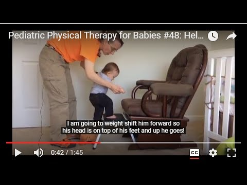 Pediatric Physical Therapy for Babies #48: Helping Your Baby Walk Up Stairs