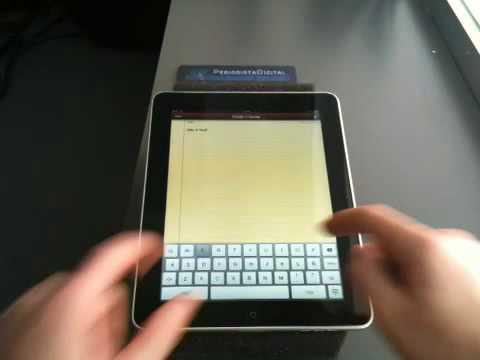 53 Tutorial para añadir un contacto en la agenda del iPad.