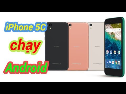 Android One S3 - iPhone 5C chạy Android Giá Rẻ từ Sharp