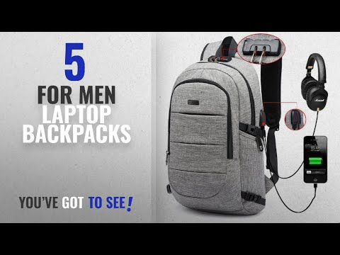 Laptop Backpacks For Men [2018 Best Sellers]: AMBOR Business waterproof Resistant Polyester Laptop