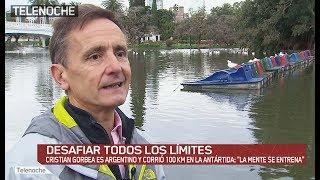 """Cristian Gorbea es argentino y corrió 100 km en la Antártida: """"La mente se entrena""""."""