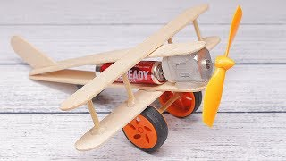 Video How to make A Plane with DC Motor - Toy Wooden Plane DIY MP3, 3GP, MP4, WEBM, AVI, FLV Maret 2019