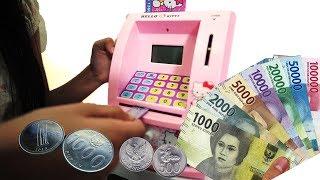 Mainan ATM celengan bisa nabung dan ambil uang beneran | Mainan anak