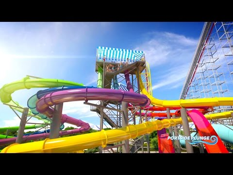 Cedar Point Shores Water Park Animated Fly Through 2017 New Rides (видео)