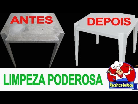 Limpar plásticos, mesas