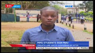 News Desk: MMU Students Sign MOU With Ongata Line Sacco, 30/9/2016