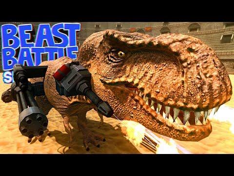 Beast Battle Simulator - T-Rex Vs Animais, Batalha Pré-Histórica!  Dinossauros (PT-BR)