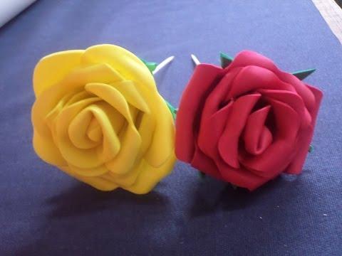 foamy - come realizzare una rosa in modo semplice
