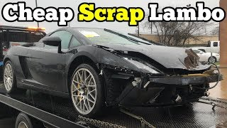 Video I Bought a Lamborghini that CRASHED INTO A GUARD RAIL at Salvage Auction! I'm Going to Rebuild It! MP3, 3GP, MP4, WEBM, AVI, FLV September 2019