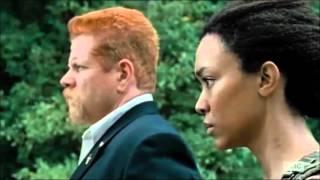 The Walking Dead Season 6 Episode 9 - No Way Out ( RPG Explosion Scene )