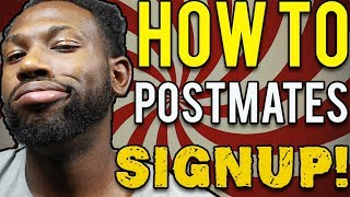 """To drive for postmates, you have to go through the sign up process. In this video, I show you my postmates tricks and tricks on how to signup for postmates!Subscribe to Young_LyfeStyle- https://goo.gl/Wd56duSign up for Postmates Or Recieve Money Off Your Meal-Use Promo Code - brandonyoung0824@gmail.comJoin the Facebook Group - https://www.facebook.com/groups/820709908085237/Need Postmates Tips and Tricks or want to watch postmates Vlogs?Watch them here: https://www.youtube.com/playlist?list=PLCnOJ0oDI16naYQoQihB1UAfGFXNRdV0MHIRE ME FOR YOUR BUSINESS:  http://www.brandonmaymediaservices.com/Need Accessories For Your RideShare ( Cop These Items)Duracell Car Charger: http://amzn.to/2pGOjPEIphone Lightning Cable: http://amzn.to/2pHkIWZAndriod Fast Charging Cable : http://amzn.to/2rb5P0fCar Vent Phone Mount: http://amzn.to/2raBe34Car Dash Cam: http://amzn.to/2qBhp7ZPillow for Back Support: http://amzn.to/2pH24yKMY FILMING SETUP Canon T5i-  http://amzn.to/21XRlx7Lighting - http://amzn.to/2rd0NjNThese are affiliate links . So I will get a small commission if you press them :).All Business Inquires and Collaboration : Send an email toContact: yearofthegentlemen20@gmail.comSOCIAL MEDIATWITTER: http://twitter.com/YrofGentlemenInstagram: http://instagram.com/young_lyfestyleFacebook: https://www.facebook.com/YoungLyfeStyle/SNAPCHAT: young_lyfestyleLINKS TO MY WEBSITE: http://yearofthegentlementv.com/GO READ MY BLOGS!MAKE SURE TO LEAVE A LIKE DISCLAIMER:ALL OF MY VIDEOS ARE BASED SOLELY UPON MY OWN EXPERIENCES AND OPINIONS.  I AM NOT HERE TO OFFEND ANYONE. JUST TALKING STRAIGHT FACTS!-~-~~-~~~-~~-~-Please watch: """"UBER DRIVER CHARGED ME $90 BUCKS - UBER STORYTIME 🚗🚘"""" https://www.youtube.com/watch?v=m-lAcdcrDn4-~-~~-~~~-~~-~-"""