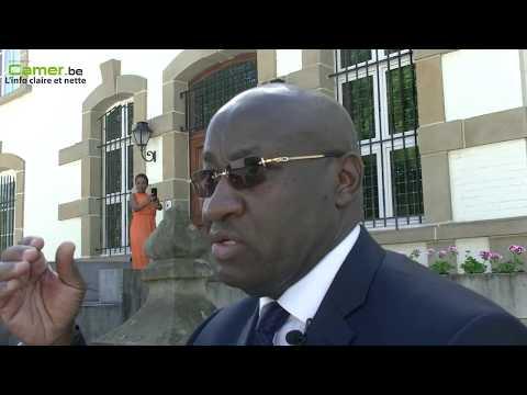 Interview de S.E. Monsieur Daniel EVINA ABE'E lors de la garden-party du 20 mai 2017