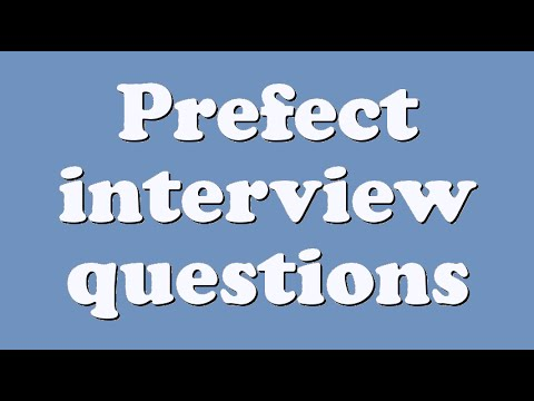 Prefect interview questions