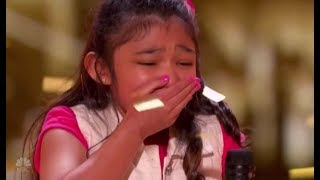 """Video Angelica Hale: gets GOLDEN BUZZER after burning down AGT with """"GIRL ON FIRE"""" 