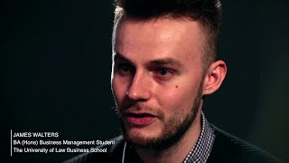 Interview with James Walters, student at The University of Law Business School