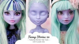 Faceup Stories: 26 Monster High Twyla - YouTube
