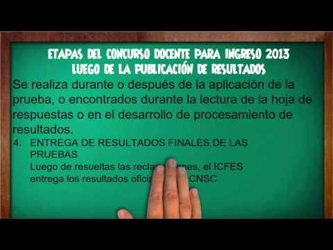 ETAPAS DEL CONCURSO DOCENTE PARA INGRESO 2013