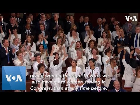 State of the Union: Ocasio-Cortez, Pelosi & Other Female Democrats Cheer Trump Working Women Remark
