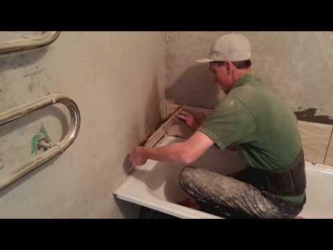 Как уложить плитку в ванной на стену своими руками 23