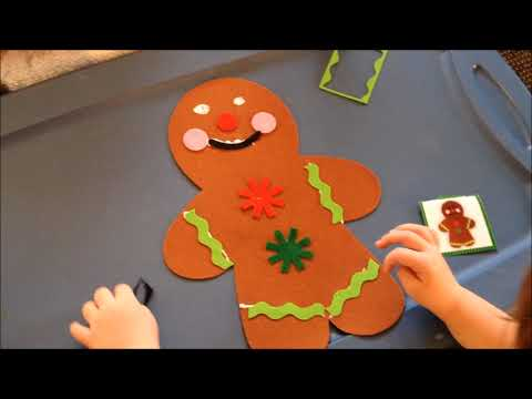 Easy Christmas Craft for Kids - DIY Gingerbread Christmas Craft for Children