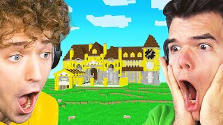 Building A MINECRAFT MANSION On Jelly's SERVER!